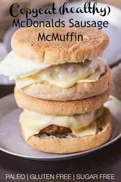 Copycat McDonalds Sausage McMuffin- A healthy version of this McDonalds breakfast favourite-The patty is 100% paleo and pair it with my paleo muffin for a full breakfast