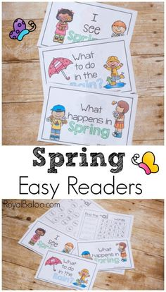 Fun and Simple Spring Easy Readers - Royal Baloo