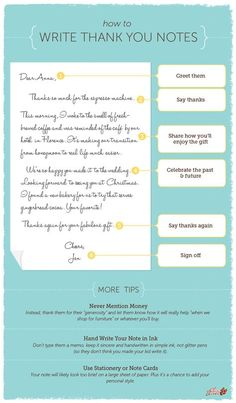 6 simple steps for how to write the perfect thank you note, great for after your wedding, birthday, or graduation