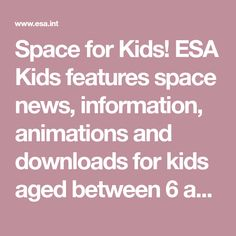 Space for Kids - Multimedialità Animation, Big Family, Fourth Grade, Kids Learning, Teaching, News, Homeschooling, English Summer, History
