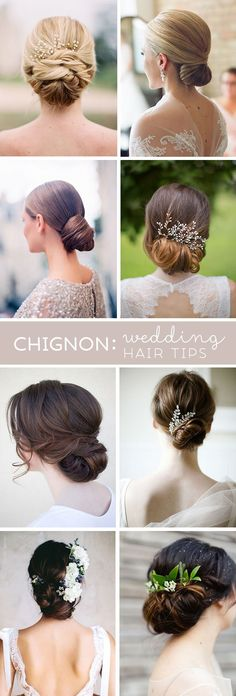 Awesome tips from a wedding hair professional about wearing a chignon or low bun for your wedding day hairstyle!