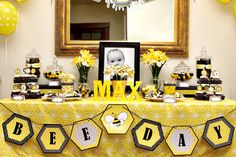 Bumble Bee Day Happy Bee Day Buzz Honey Beehive First Birthday - Printable Customized Package by arpartyprintables on Etsy https://www.etsy.com/listing/151566520/bumble-bee-day-happy-bee-day-buzz-honey