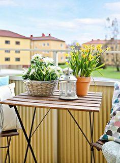 Apartamento com varanda de primavera