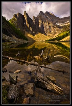 Early Morning at Lake Agnes near Lake Louise, Alberta. This is a vertical composition of Good Morning Lake Agnes. All About Canada, Beautiful Places, Amazing Places, Largest Countries, Banff, Natural Wonders, Good Morning, North America, The Good Place