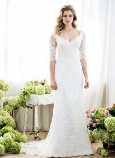 Lace Sleeve Wedding Dress. Shop in Ponsonby.