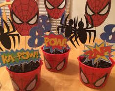 spiderman centerpieces - Buscar con Google