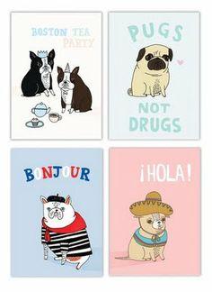 Cute dog illustrations