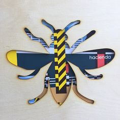 This striking Hacienda Bee lasercut wall art is a must have for lovers of Manchester, its iconic Hacienda nightclub, rich musical past and industrial history The worker bee was adopted as a motif for Manchester during the Industrial Revolution  This contemporary wall art, combines a lasercut plywood bee cut out, with a Hacienda inspired art print behind and measures 23cm x 23cm  Please note, this lasercut product is NOT framed.  The photograph shows an Ikea Ribba Frame, available in black or…