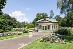 Victorian Style Statue House in Botanic Gardens by ShardsOfArcadia