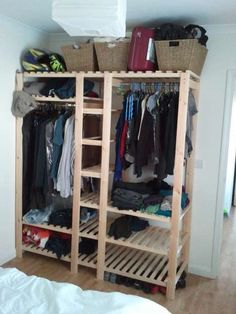 DIY wooden wardrobe