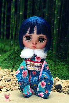 YukiI Blythe custom art ooak doll by Blythe Junkie by blythejunkie