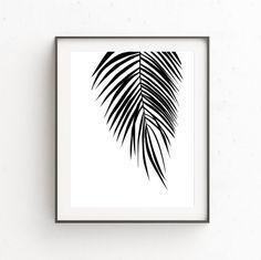 Palm Leaf Wall Decor Modern Palm Tree Tropical Leaf Print