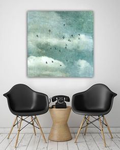 """Farbe - """"Wild sky 3"""" Leinwand 1x1 Meter - ein Designerstück von BlickFangFotografie bei DaWanda"""
