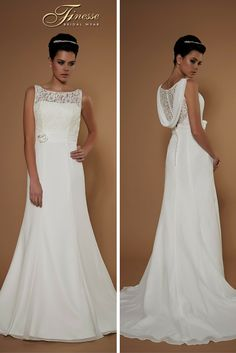 Fit and Flare Wedding Dress from Finesse Bridal Wear in Listowel, Co Kerry #FitandFlare #ElegantBride