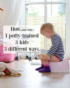 There is definitely more than one way to potty train, because every kid is different. Find out the best way to potty train your child based on his own unique personality. Potty training in 3 days is not for everyone, but these potty training tips and tric