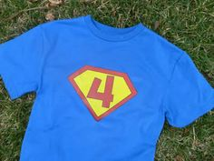 birthday superhero t-shirt