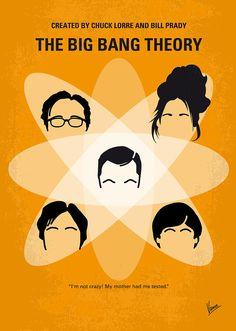 No196 My The Big Bang Theory Minimal Poster Digital Art  - No196 My The Big Bang Theory Minimal Poster Fine Art Print