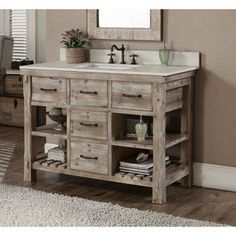 Having a rustic style for a bathroom is not uncommon. Some experts recommend this trending style to be applied in a bathroom to bring unique feelings into it.#rustic #bathroom #vanities #drawers #diy #ikea #onbudget #inexpensive