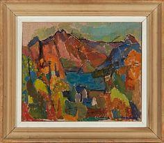 "Unni Lund, ""Høst i Nord-Norge"" / Nye objekter / Nettauksjon / Blomqvist - Blomqvist Kunsthandel"