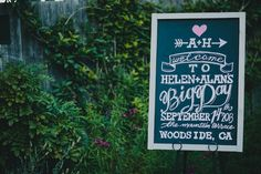 Check out all the different chalkboard placement ideas for your wedding!  See more: http://www.loveandlavender.com/2014/05/chalkboard-wedding-placement-ideas/