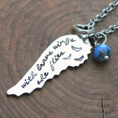 The With Brave Wings She Flies Necklace