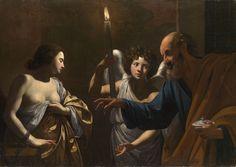 St Agatha of Siciliy | http://saintnook.com/saints/agathaofsicily/ | Simon Vouet - Saint Peter Visiting Saint Agatha in Prison.jpg