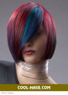 Punk Hairstyles | 2012 Punk Hairstyles: Fabulous Blue Hair Highlights | COOL-HAIR.COM