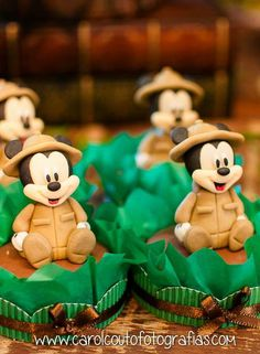 Cute treats at a Mickey Mouse safari Birthday Party!  See more party planning ideas at CatchMyParty.com!