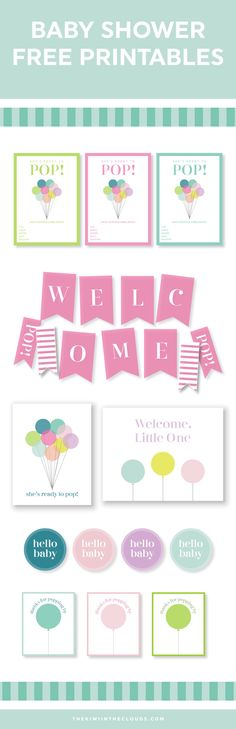 Easy Baby Shower Ideas - Tea Party, Baby Shower Printables, Baby Shower Invitations, Baby Shower Games, and Baby Shower themes Baby Shower Simple, Pop Baby Showers, Baby Shower Gifts For Boys, Baby Shower Invites For Girl, Baby Shower Cards, Baby Shower Themes, Baby Boy Shower, Shower Ideas, Baby Shower Photo Booth