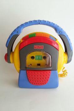 Fisher-Price 1999 Mattel TUFF STUFF Cassette Tape Player Recorder Microphone  #FisherPrice