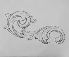 Image may contain: drawing Wood Carving Designs, Wood Carving Patterns, Filigrana Tattoo, Baroque Ornament, Hai Tattoos, Filigranes Design, Ornament Drawing, Leather Tooling Patterns, Desenho Tattoo