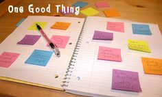 The Secret Weapon for Getting Organized...A Post-It Note Planner