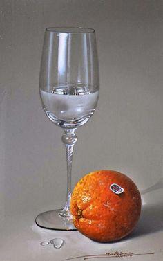pinturas-de-bodegones-con-copas-y-frutas-pintados-al-oleo  - Javier Mulio