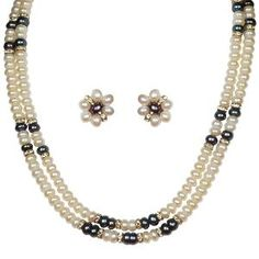 Layered Necklace Set By Nisa Pearls - 2 Lines
