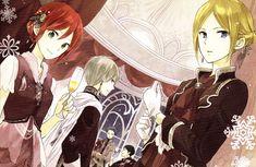 Shirayuki & Zen & Mitsuhide & Obi & Kiki (L>R) | Akagami no…