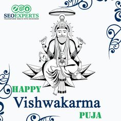 Lord Vishwakarma is the divine crafts man, sculptor, architect & engineer of the gods and also the creator of the universe. EcoSeo Experts And Their Team Wishes To All. Best Digital Marketing Company, Digital Marketing Services, Online Marketing, Social Media Marketing, Vishwakarma Puja, Drawing Themes, Creator Of The Universe, Formal Shirts For Men, Website Optimization