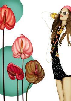 shu84: Carmen García Huerta Fashion Illustrations