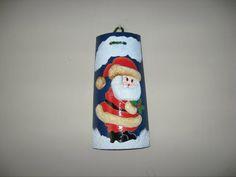 teja navideña de papa Noel en alto relieve