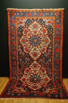 ANTIQUE RUG BAKHTIYARI ca: 300x163cm antico tappeto