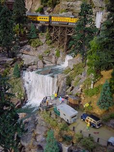 #NScale #waterfall #scenery for #model #train #set