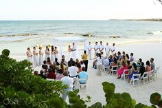 This couple celebrated their #DreamDay at #SecretsSilversands! #wedding