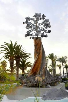 Wind sculpture by Cesar Manrique, Puerto de la Cruz, Santa Cruz de Tenerife. Canary Islands