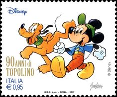 Mickey Mouse and Pluto Postage Stamps, Bowser, Decoupage, Mickey Mouse, Disney Characters, Fictional Characters, Cartoon, Artwork, Daisy