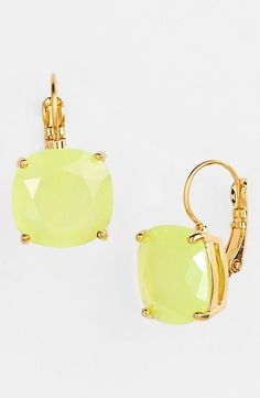 Love! yellow kate spade new york drop earrings