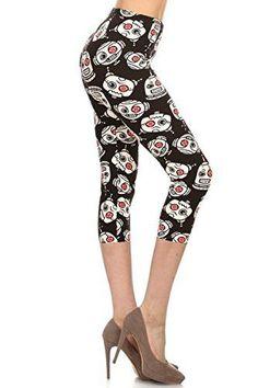 5cf787bc95 Women's Butterknit Leggings Capri Cropped REGULAR and PLUS Printed Leggings  Tights Batch1