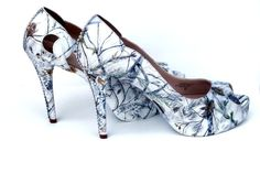snow white camo hand painted women's wedding bridal by ElyseInNY, $325.00-- white and camo, I'm in love