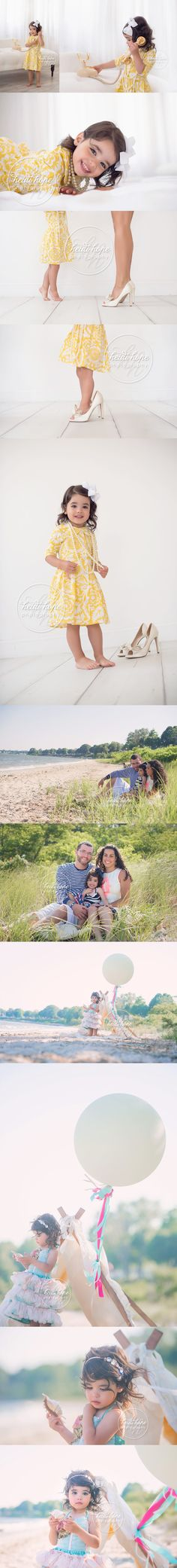 two year old birthday session with family on the beach!