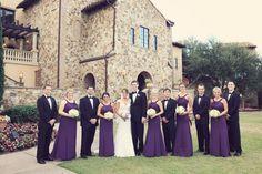 Erica + Preston | Absolutely Fitting Tuxedo | | Bella Collina Wedding | Orlando, FL | Bride | Groom | Groomsmen | Bridesmaid | Plum | Wedding Party