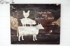 Barnyard Animals Rustic Sign - Knick of Time