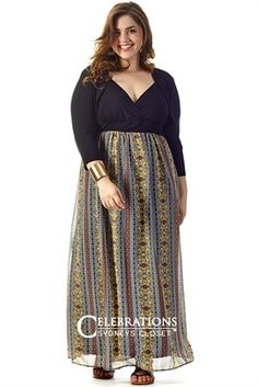 Plus Size Roxanna Maxi Dress